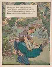 Hush-A Bye-Baby-Tree Top-Cradle Will Rock-1912 ANTIQUE VINTAGE COLOR ART PRINT