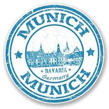 2 x Munich Germany Bavaria Vinyl Sticker Laptop Travel Luggage #4584