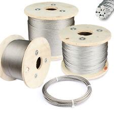 Drahtseil Edelstahl 7 x 7 V4A Reling Draht Seil Seile Stahlseil VA - (1-8 mm)