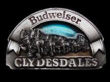 MF07148 VINTAGE 1989 **BUDWEISER CLYDESDALES** BEER BELT BUCKLE