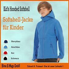 Kinder Softshell-Jacke Kids Hooded Softshell mit Kapuze in 4 Farben B&C 810.42