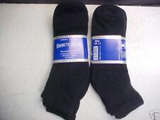 6pr Men's loose fit Diabetic Ankle Socks Black 10-13