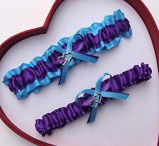 * NEW Gorgeous Purple Turquoise Wedding Garter Prom Homecoming GetTheGoodStuff *