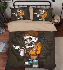 3D Skull Pirate Kids 998 Bed Pillowcases Quilt Duvet Cover Set Single Queen US