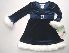 Festtagskleid blau NEU Gr. 92 - 110 Kleid Weihnachtskleid Blumenmädchen Glitzer