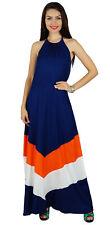 Bimba femmes licol long cou plage chic usure robe maxi vêtements d'été classique