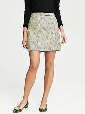 Brand NEW Banana Republic Yellow Tweed Mini Skirt