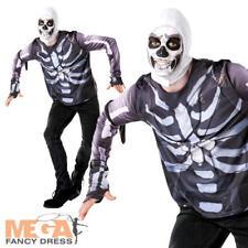 Fortnite Skull Trooper Tween Fancy Dress Boys Computer Gaming Character Costume