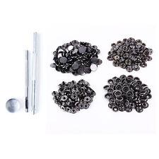 Gunmetal grandi bottoni automatici Snap e kit di fissaggio Foro Punch Heavy Duty Strumento 15mm