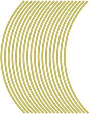 5mm cerchione nastro striatura strisce adesivi ORO 38 pezzi/9 per ruota)