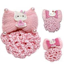 Ragazze Hello Kitty Capelli Clip Grip Con Chignon NET