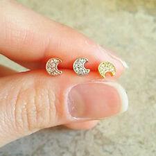 CZ Moon Cartilage Earring moon stud moon helix earring dainty tragus earring