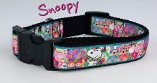 "Snoopy dog collar Handmade adjustable buckle collar 1"" wide or leash $12 collar"