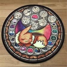 Anime Pokémon Eevee Manga Plush Floor Rug Carpet Room Doormat Non-slip Round Mat