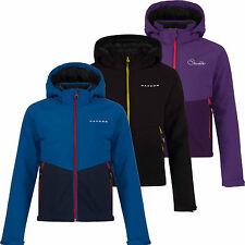 Dare2b Outpour Kids Softshell Jacket Windproof Hi Pile Fleece Lined Girls Boys