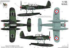 """[FFSMC Productions] Aufkleber 1/48 Arado 196 Deutschen """"Nickname Französisch"""""""