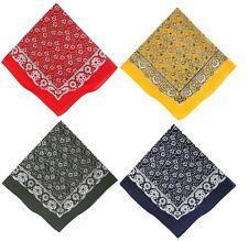Bandana con il motivo classico Paisley, colori: rosso, giallo, verde e blu