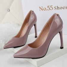 ᄄᆭscarpins femme chaussures ᄄᆭlᄄᆭgant talons aiguilles 10 cm rose lacets comme cuir