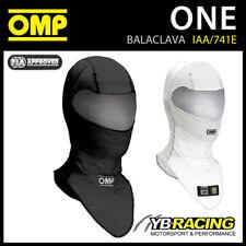 IAA/741E OMP RACING BALACLAVA NEW MODEL FIA FIREPROOF OMP DRY SYSTEM 2 COLOURS