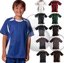 Kids Soccer Jersey Size 6 8 10 12 14 Sport Training Mesh Boys Girls