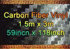 3d De Fibra De Carbono Vinilo Negro Película Wrap pegatina 1,5 m X 3m Bubble/air Libre