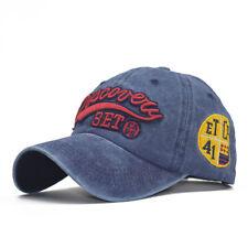 Vintage Washed Letter Baseball Caps Men Women Dad Snapback Hats Casual Sports