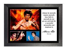 Cartel de Bruce Lee 10 cambiar la gente actor película motivación foto de presupuesto de Hong Kong