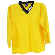 Jaune-hockey entraînement jersey de hockey sur glace shirt, haut d'entraînement, sports jerseys