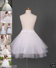 Robe de demoiselle A-line jupon de crinoline jupon enfants filles