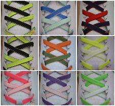 Flat dual coloured / reversible shoelaces 116cm x 7mm Laces: free UK post.