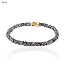 7.18ct Pave Black Diamond Bracelet 14k Gold Sterling Silver Fine Jewelry