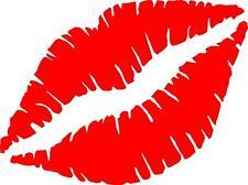 Kiss Lips Vinyl Decal Sticker Free Shipping