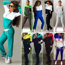 2Pcs Women Tracksuit Hoodies Sweatshirt Pants Set Sport Wear Casual Jogging Suit