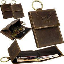 L&B Minibörse & Schlüsselring Geldbeutel Portemonnaie Geldbörse Klein Small Case