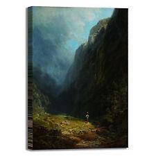 Spitzweg alta valle alpina design quadro stampa tela dipinto telaio arredo casa