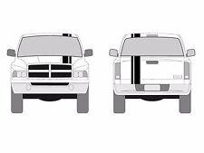 "Fits Dodge DAKOTA Truck Offset RACING STRIPES 2""&6"" Double Vinyl Decal Graphics"