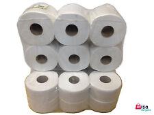 24 x Quality Mini Jumbo Toilet Paper Tissue Rolls 130M 2PLY 60mm 76mm