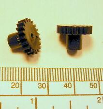 Gear - 2mm bore - 14mm diameter x 9,5mm long - 20 teeth - black nylon 66