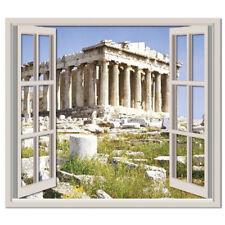 Athene Griekenland 3D Venster Muursticker Grieks Ruïnes Muurtattoo Slaapkamer
