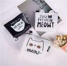 Lovely Cat Kitten Kitty PU Coin Money Bag Purse Wallet ~ 4 Designs Options