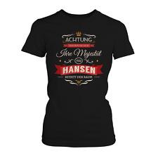 Ihre Majestät Frau Hansen Damen T-Shirt Geschenk Idee Familienname Nachname JGA