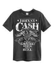 Amplified Johnny Cash - Eagle - Men's Charcoal T-Shirt