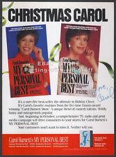 CAROL BURNETT : My Personal Best__Original 1987 Trade Print AD promo__Christmas