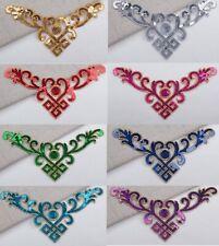 Sequin embroidery patch lace applique motif dress Irish dance costume #33 9 COLS