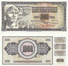 Yugoslavia 1000 Dinara Uncirculated 1981 Note