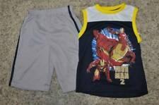 NWT-Boys Marvel Iron-Man Tank Top Shirt & Ironman Shorts Set-size 4 & 6