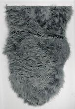 Soft Faux Fur Shaggy Fluffy Rug Plain Sheepskin Home Decor Mats Wool Living Room