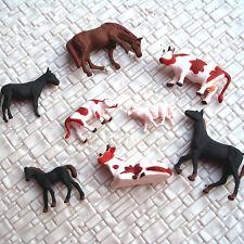 Lot de 40 Animaux avec chevaux,vaches 1:87 échelle HO m