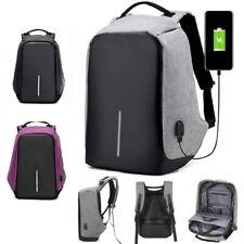 Unisex Anti-theft Waterproof Laptop Backpack USB Charging **UK FAST POST**