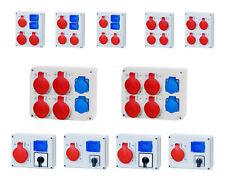 CEE Stromverteiler 32A Baustromverteiler Einzelsicherungen FI Westech Garten